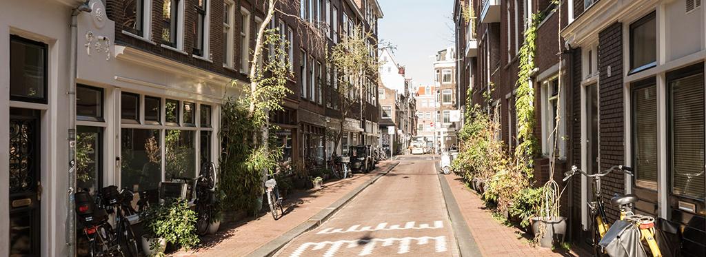 Straatje in Amsterdam