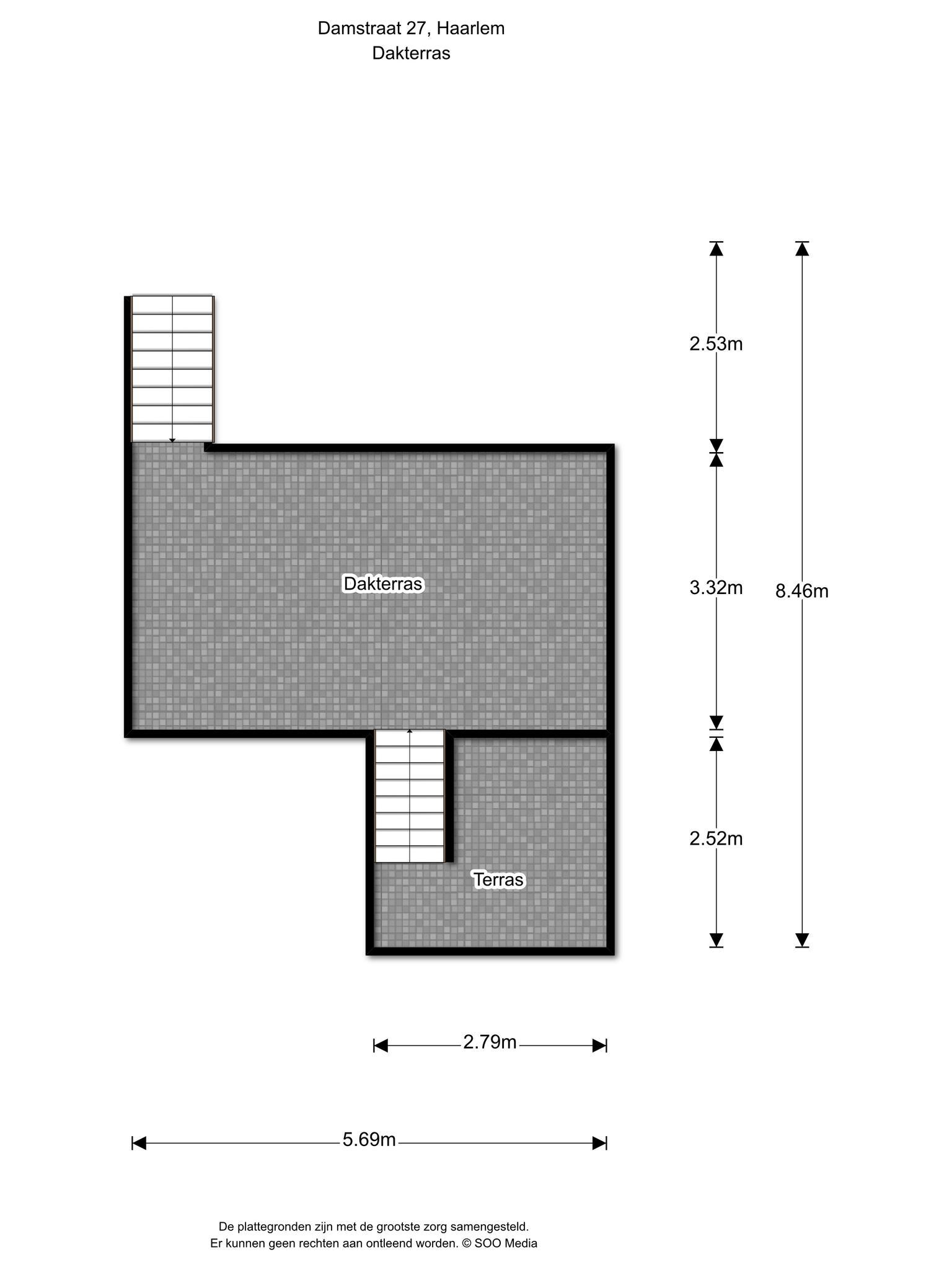 Haarlem – Damstraat 27 – Plattegrond 3