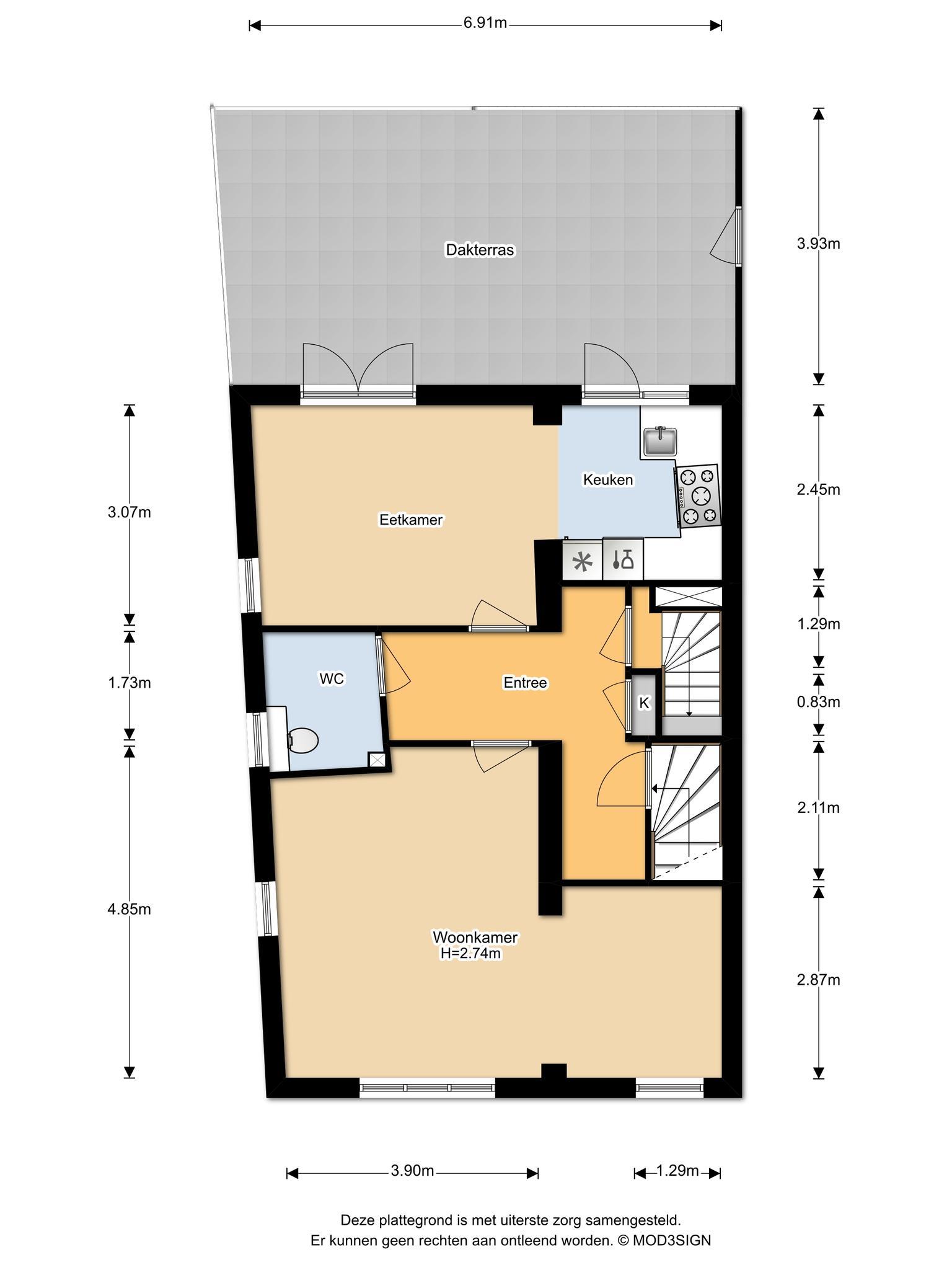 Haarlem – Stephensonstraat 4- 6 – Plattegrond 3
