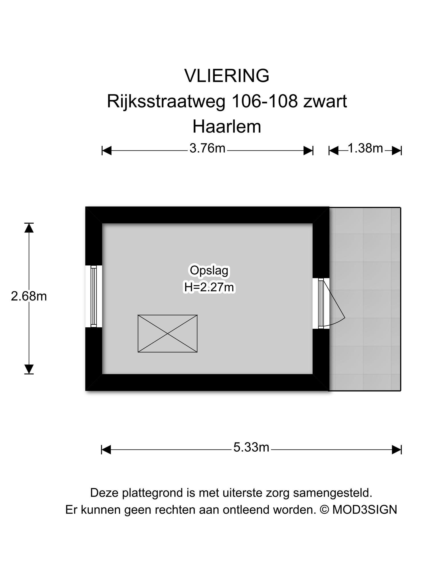 Haarlem – Rijksstraatweg 106- 108 – Plattegrond 10