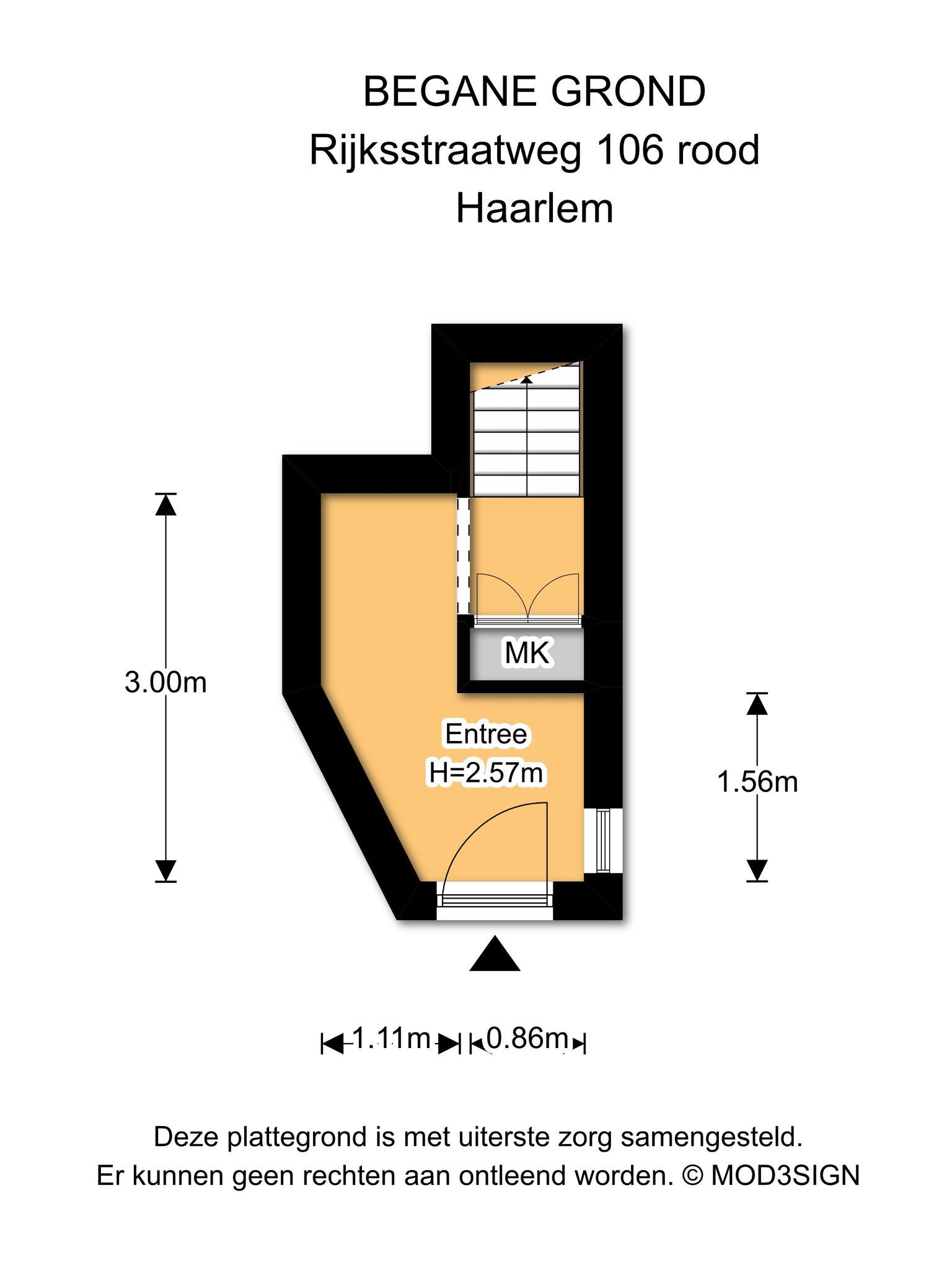 Haarlem – Rijksstraatweg 106- 108 – Plattegrond 12
