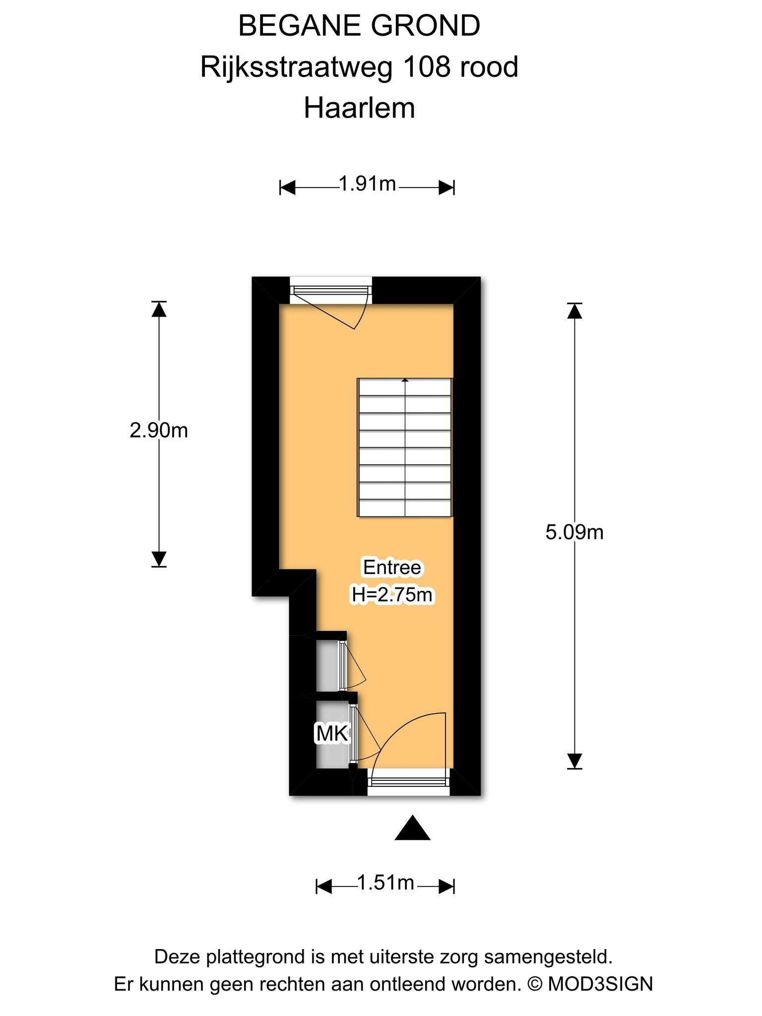 Haarlem – Rijksstraatweg 106- 108 – Plattegrond 4