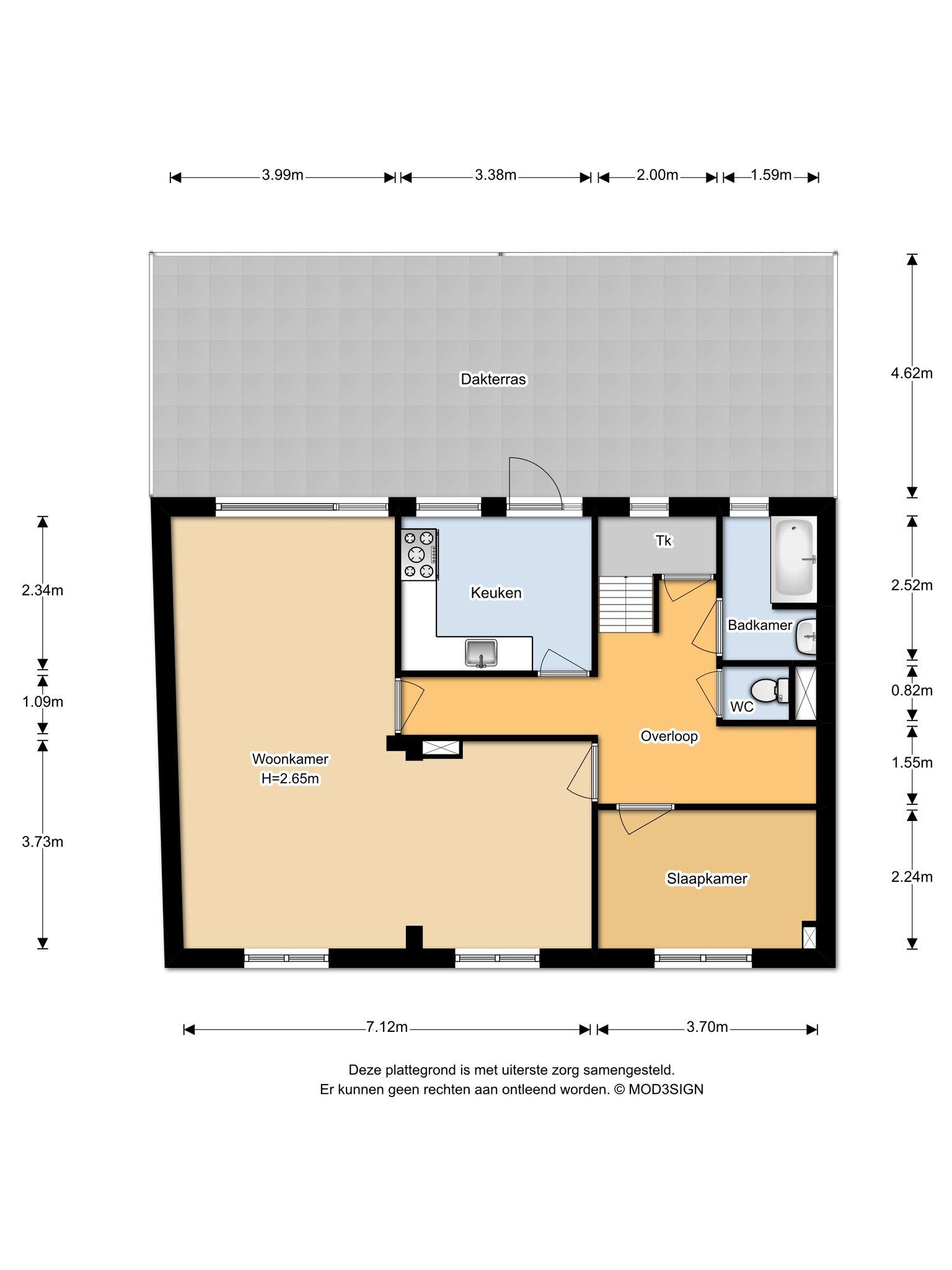 Haarlem – Stephensonstraat 4- 6 – Plattegrond 4