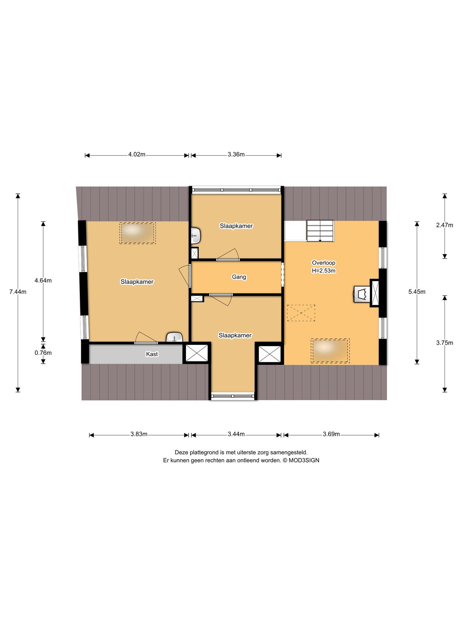 Haarlem – Stephensonstraat 4- 6 – Plattegrond 2