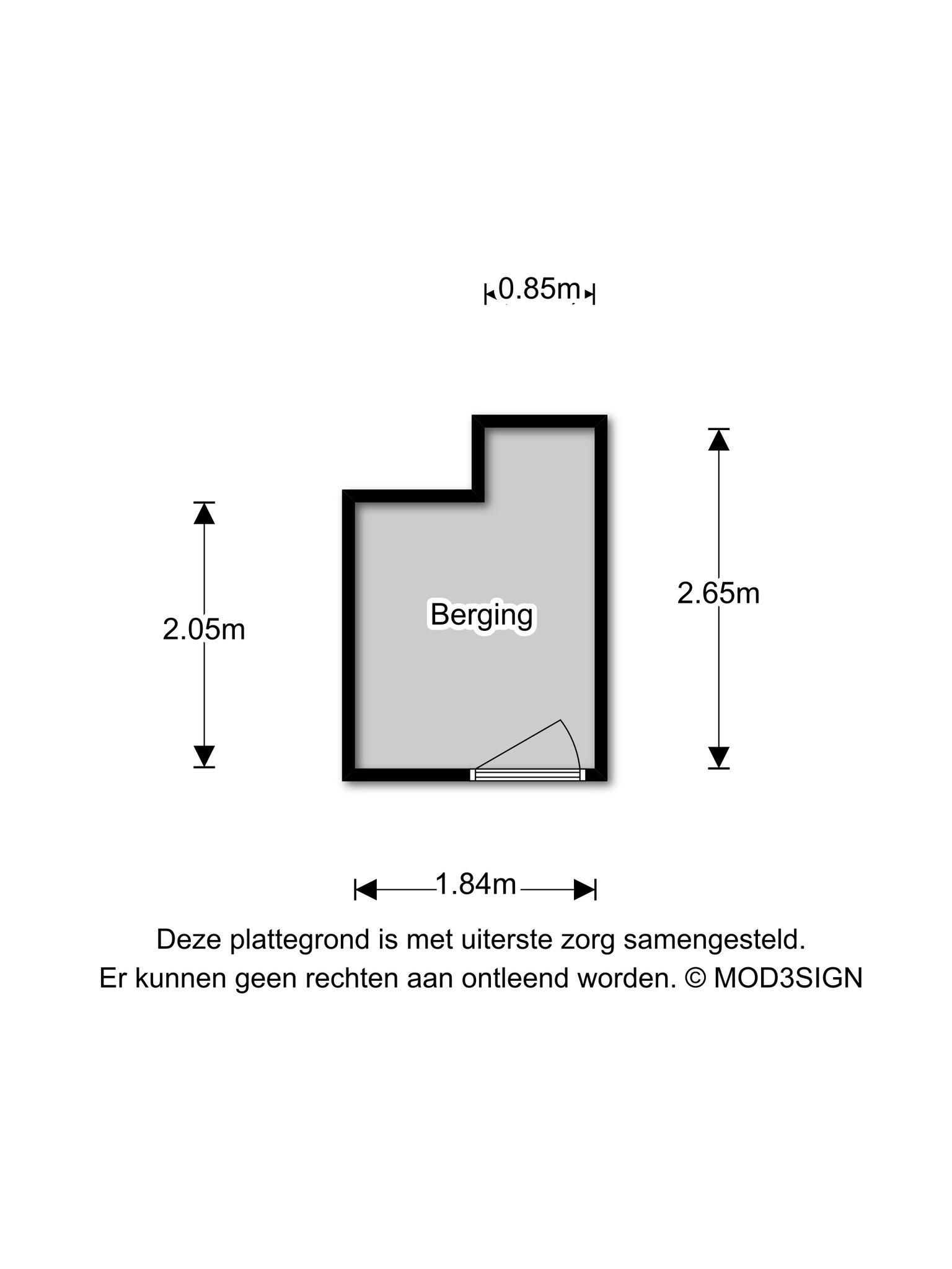 Haarlem – Diepenbrockstraat 82 – Plattegrond 3