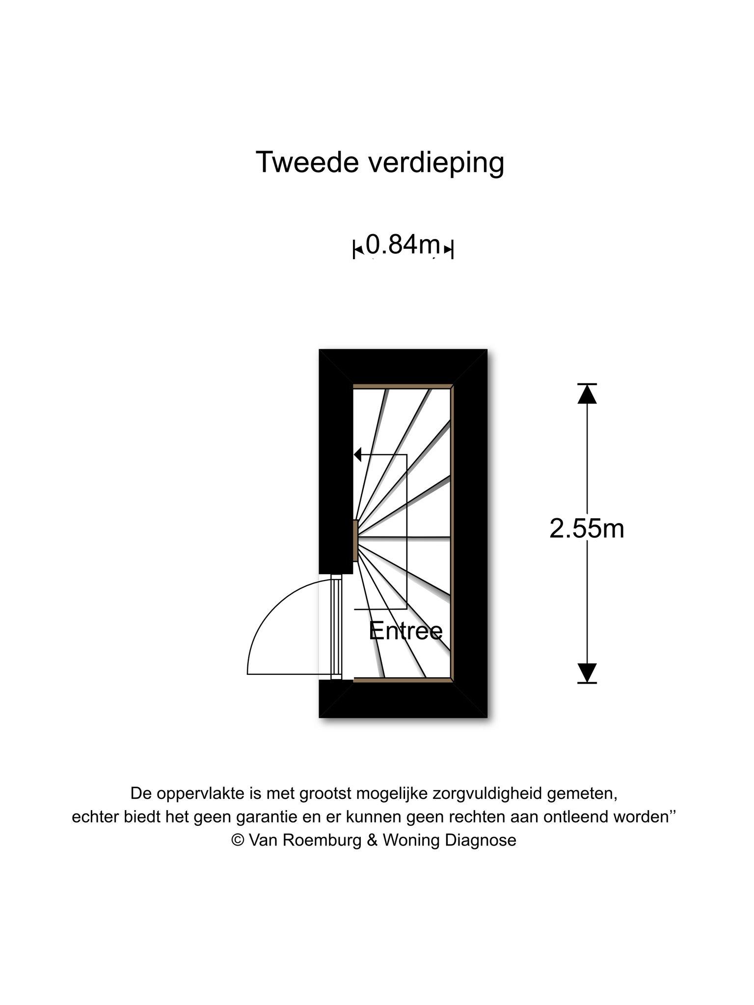 Amsterdam – Orteliusstraat 332-H – Plattegrond