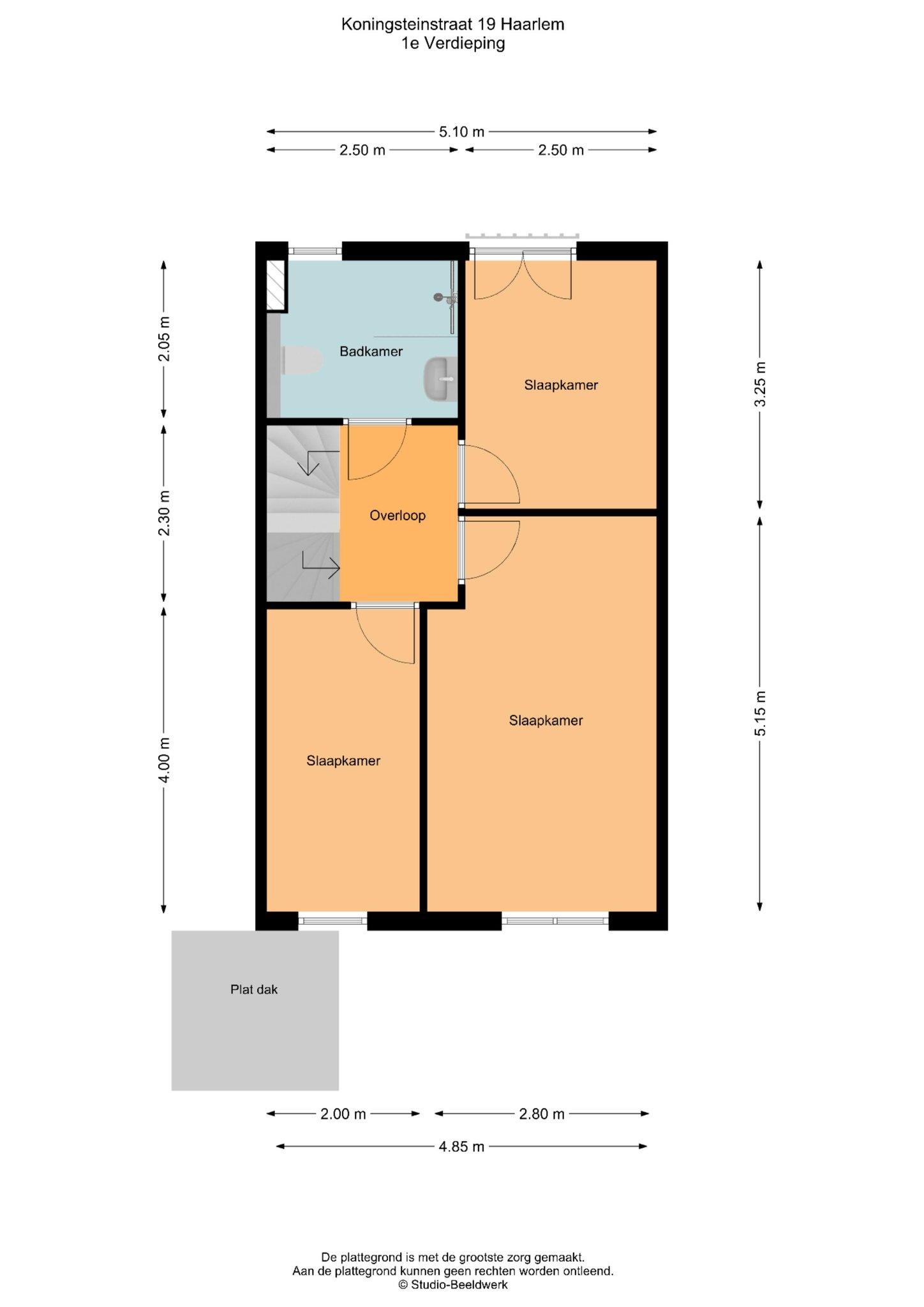 Haarlem – Koningsteinstraat 19 – Plattegrond 4