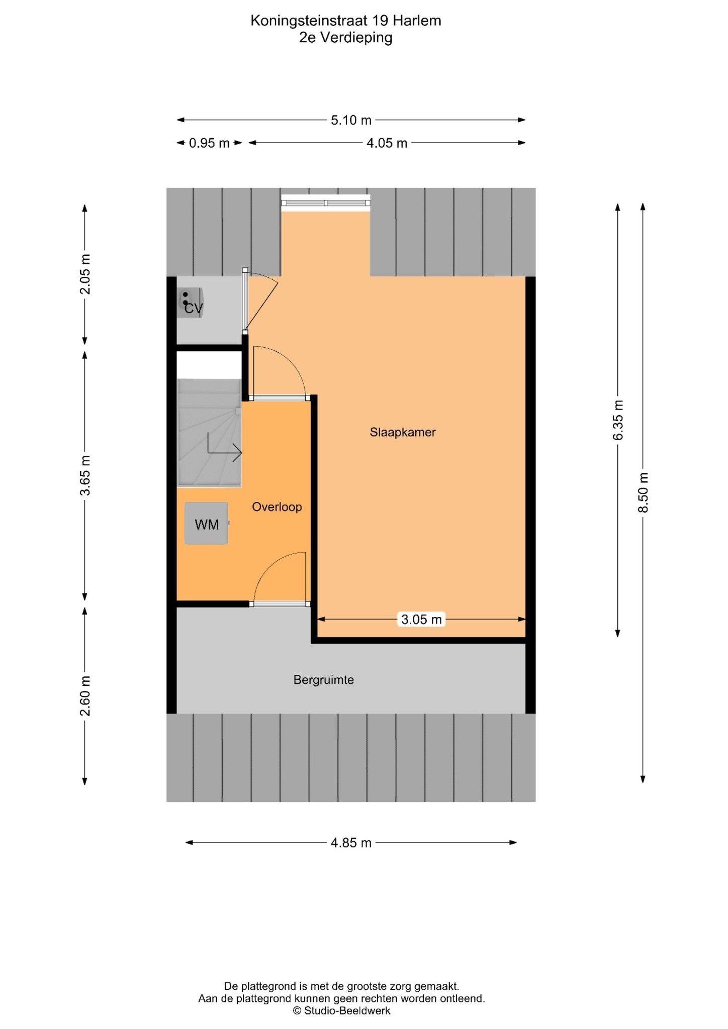 Haarlem – Koningsteinstraat 19 – Plattegrond 3