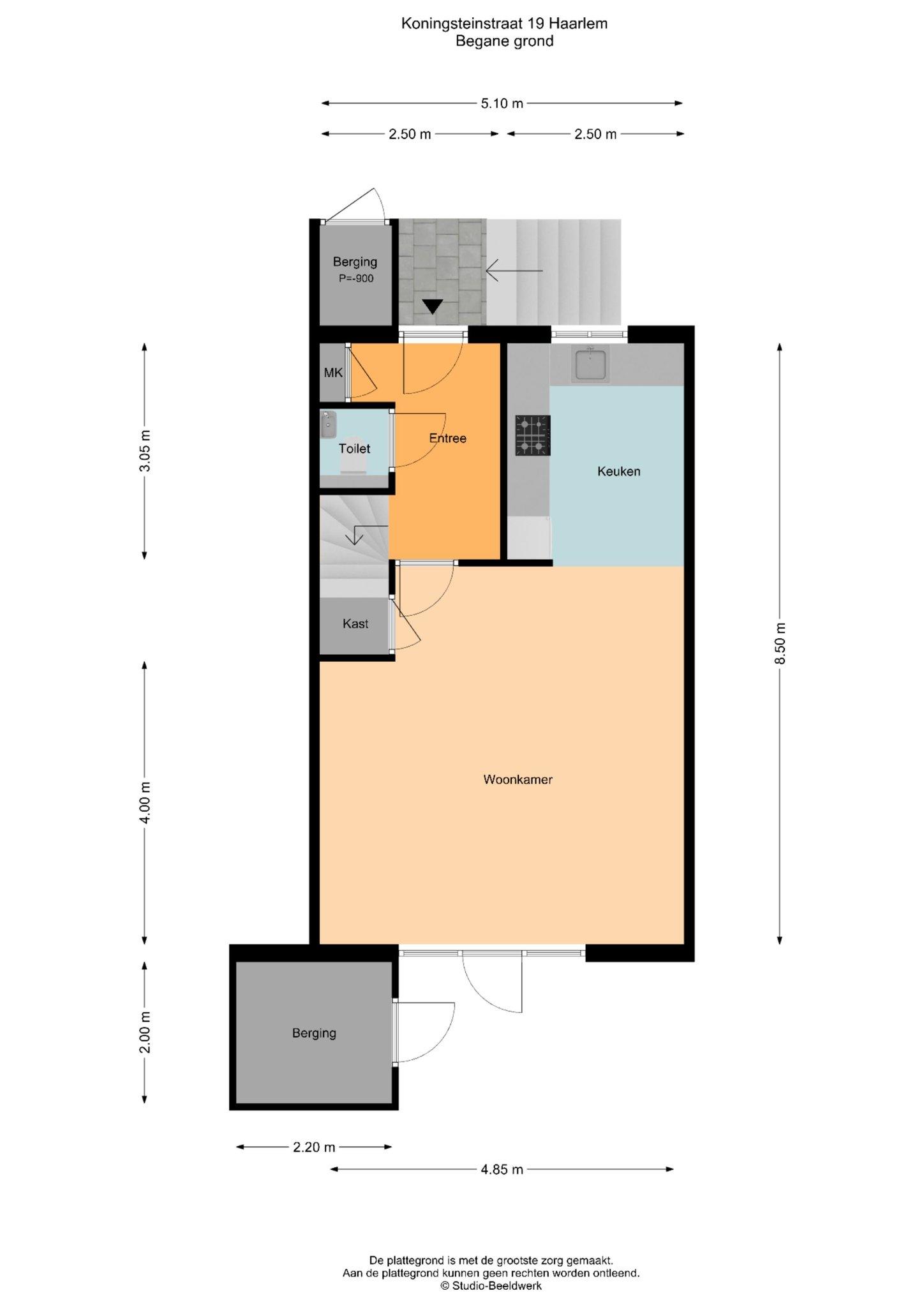 Haarlem – Koningsteinstraat 19 – Plattegrond 2