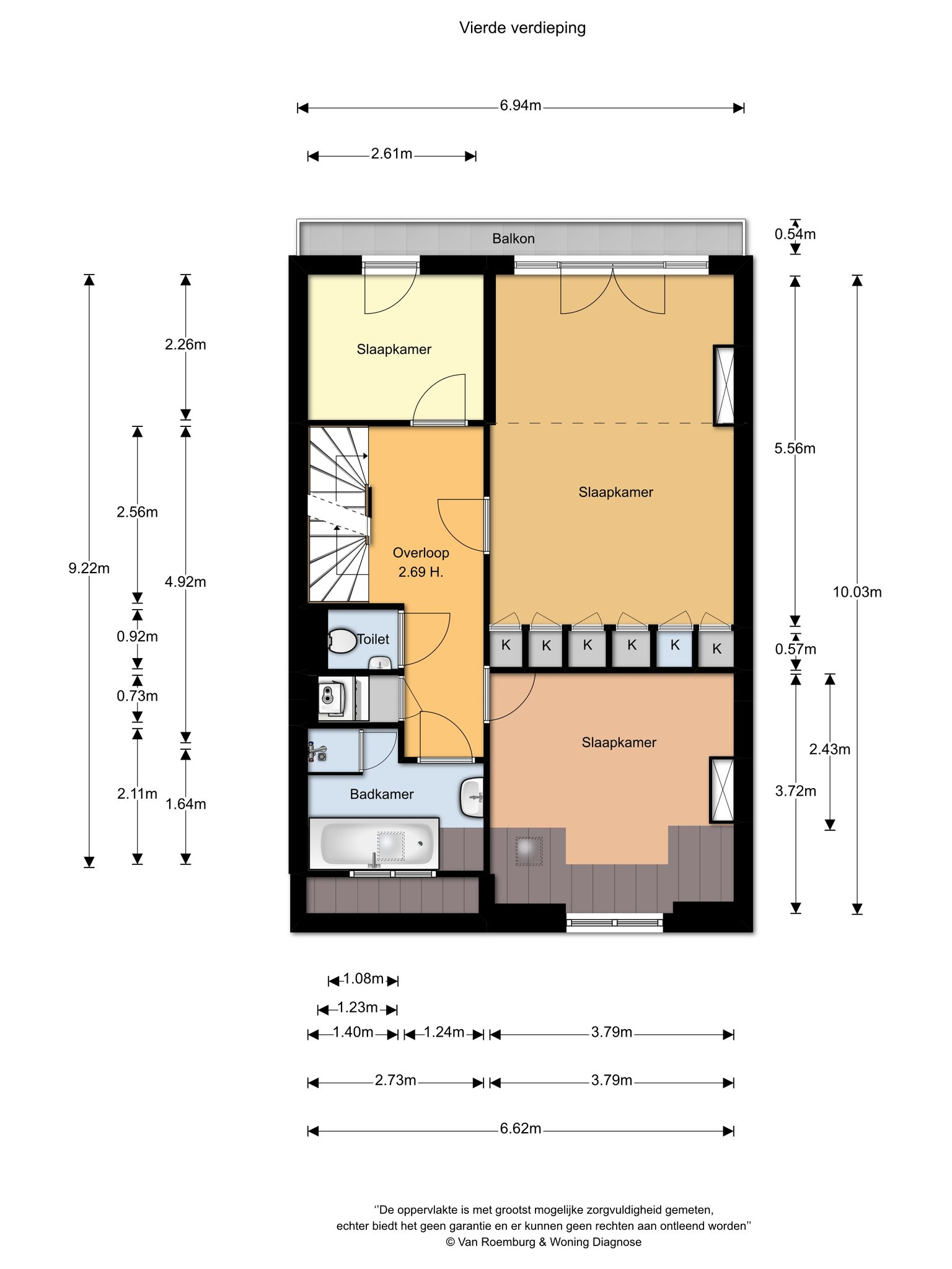 Amsterdam – Valeriusstraat 250-3+4 – Plattegrond 5