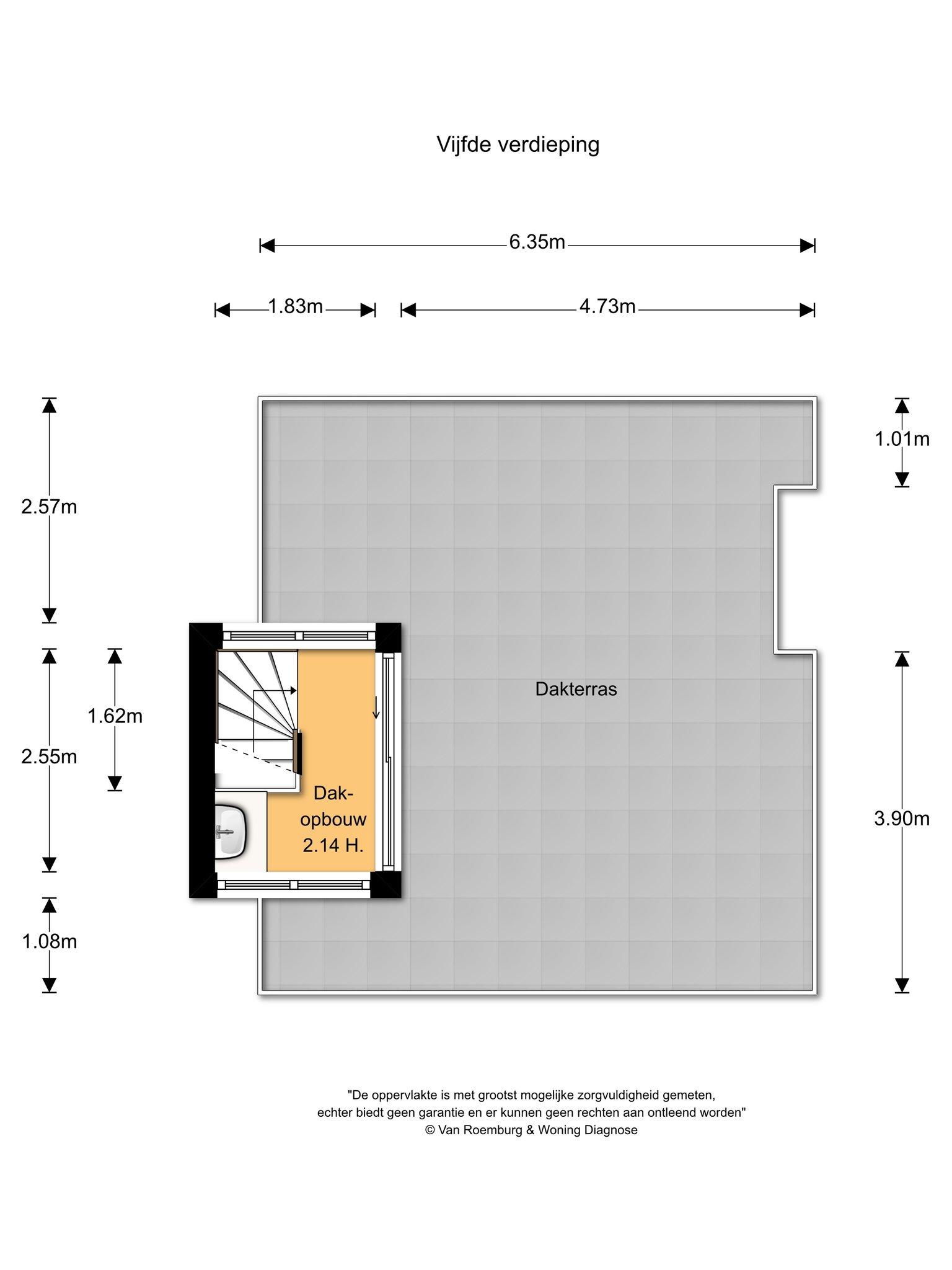 Amsterdam – Valeriusstraat 250-3+4 – Plattegrond 7