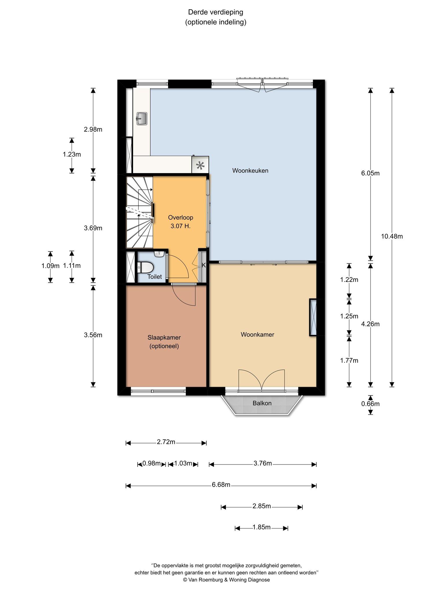 Amsterdam – Valeriusstraat 250-3+4 – Plattegrond 8
