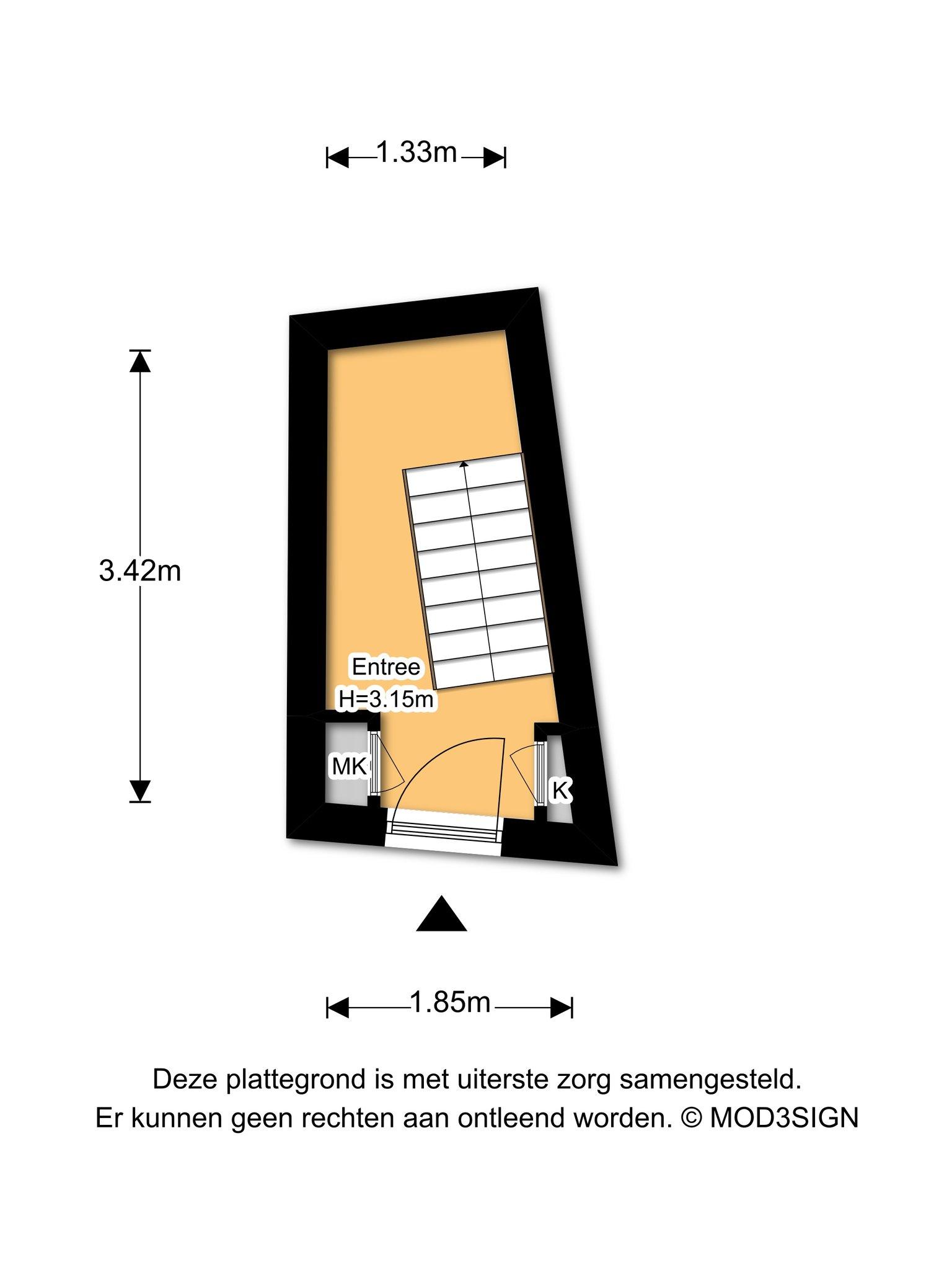 Haarlem – Klein Heiligland 11 – Plattegrond 2