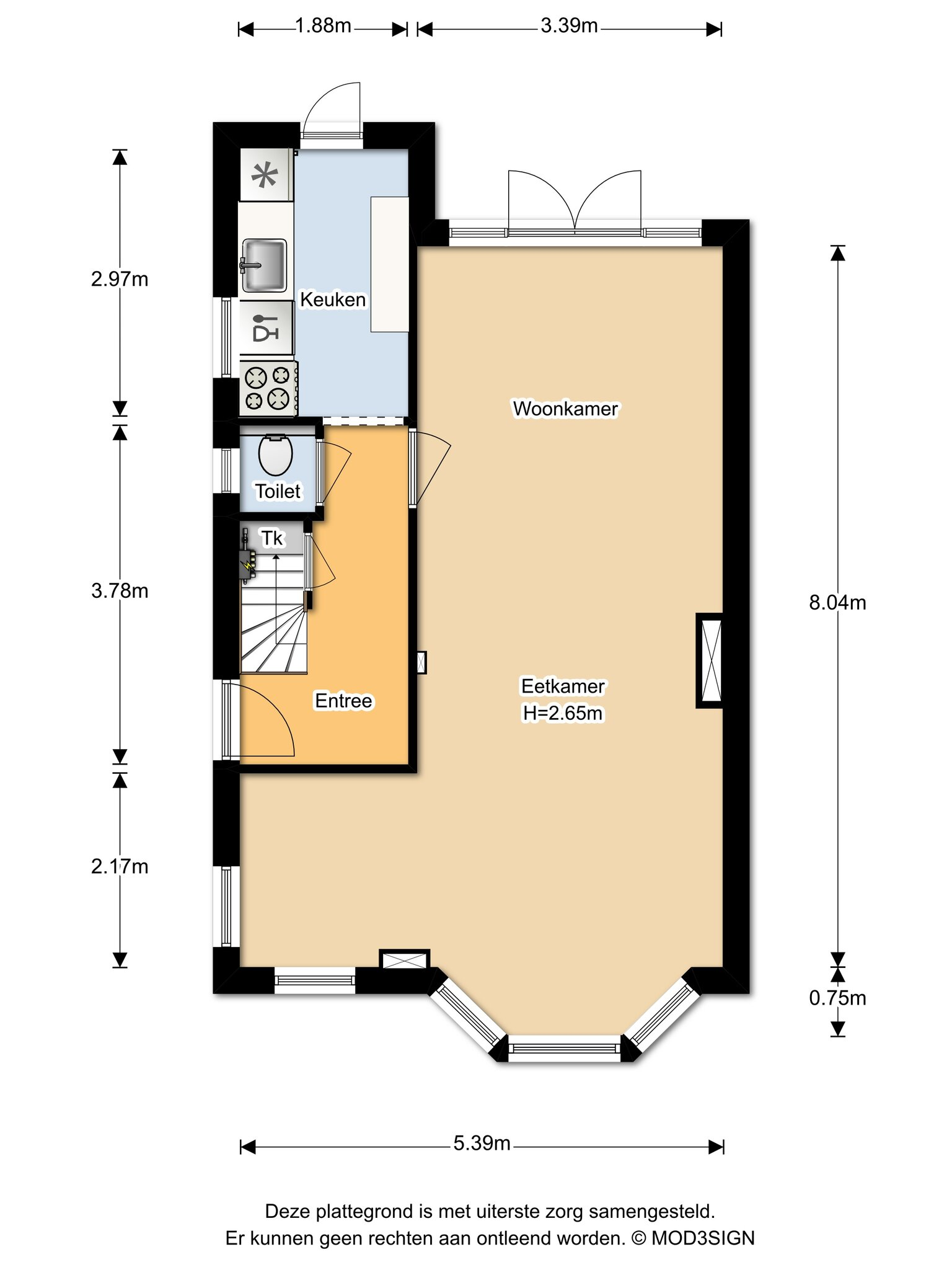 Haarlem – Perseusstraat 26 – Plattegrond 6