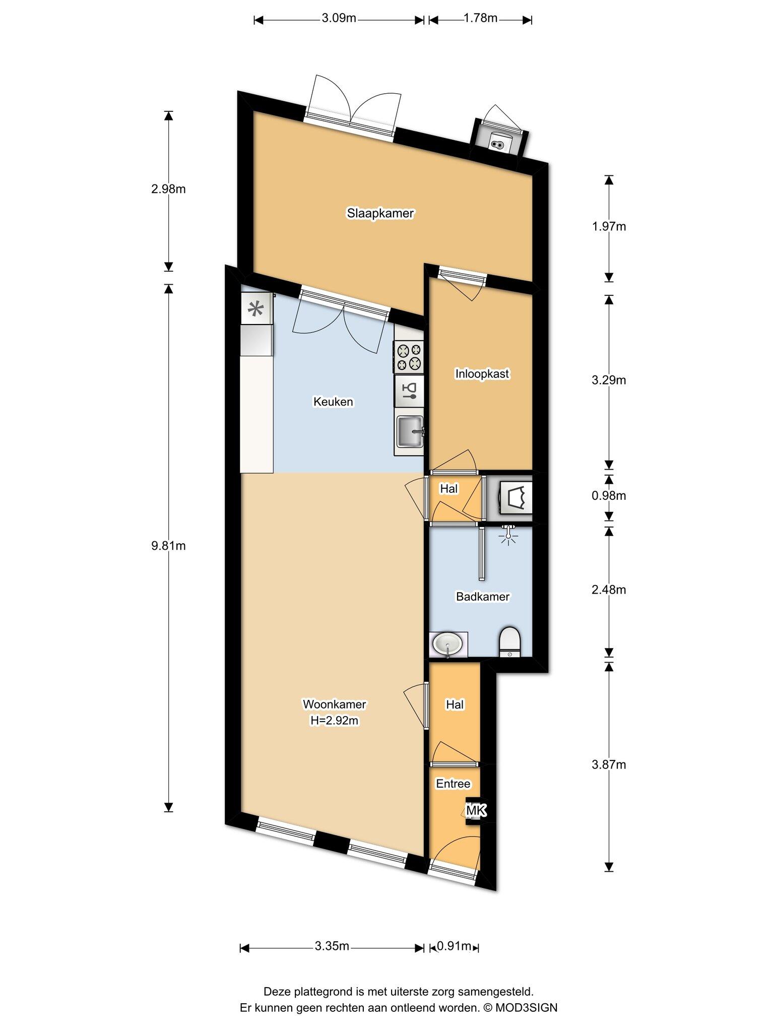 Haarlem – Klarenbeekstraat 50zw – Plattegrond 3