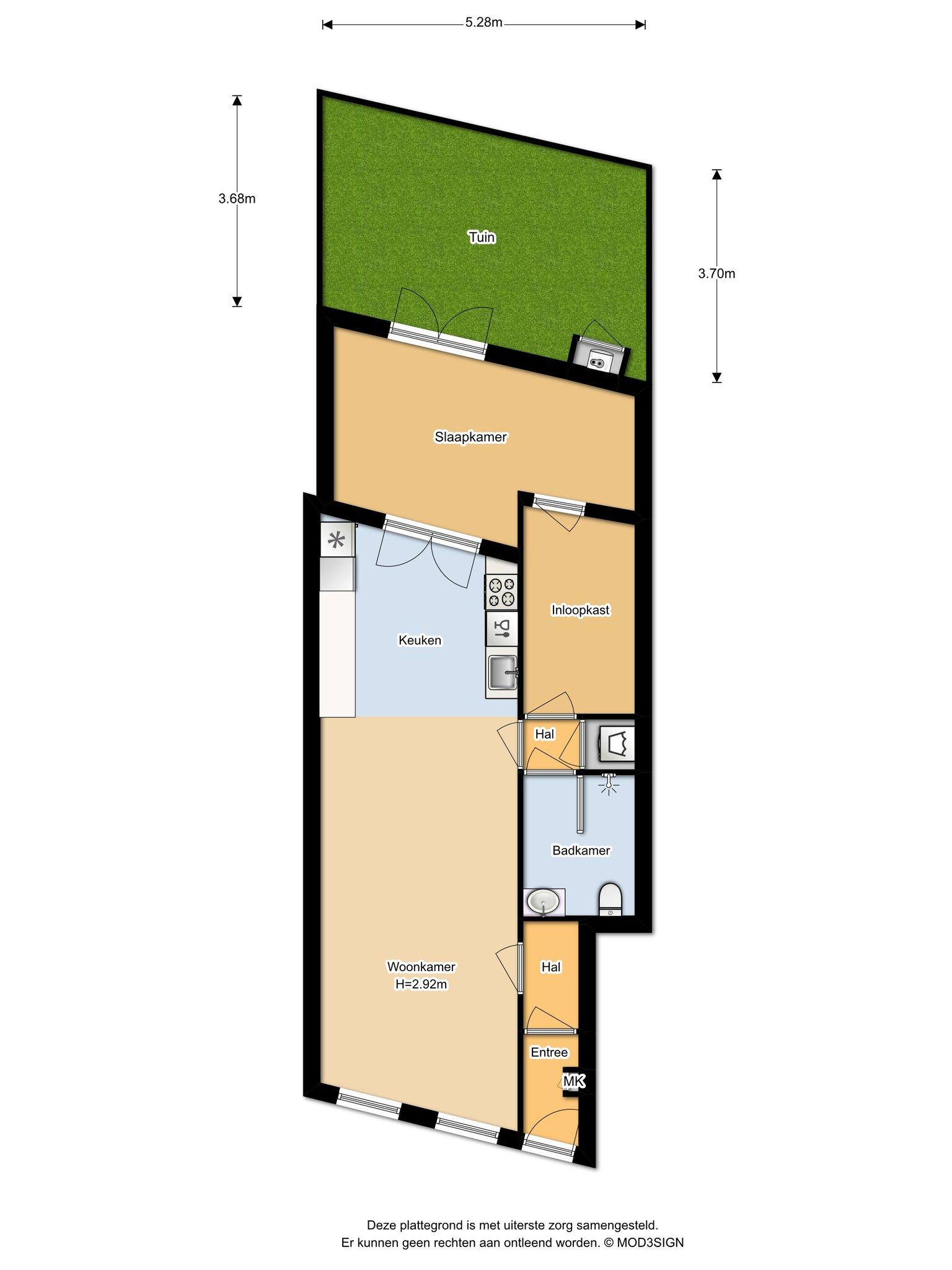 Haarlem – Klarenbeekstraat 50zw – Plattegrond 4