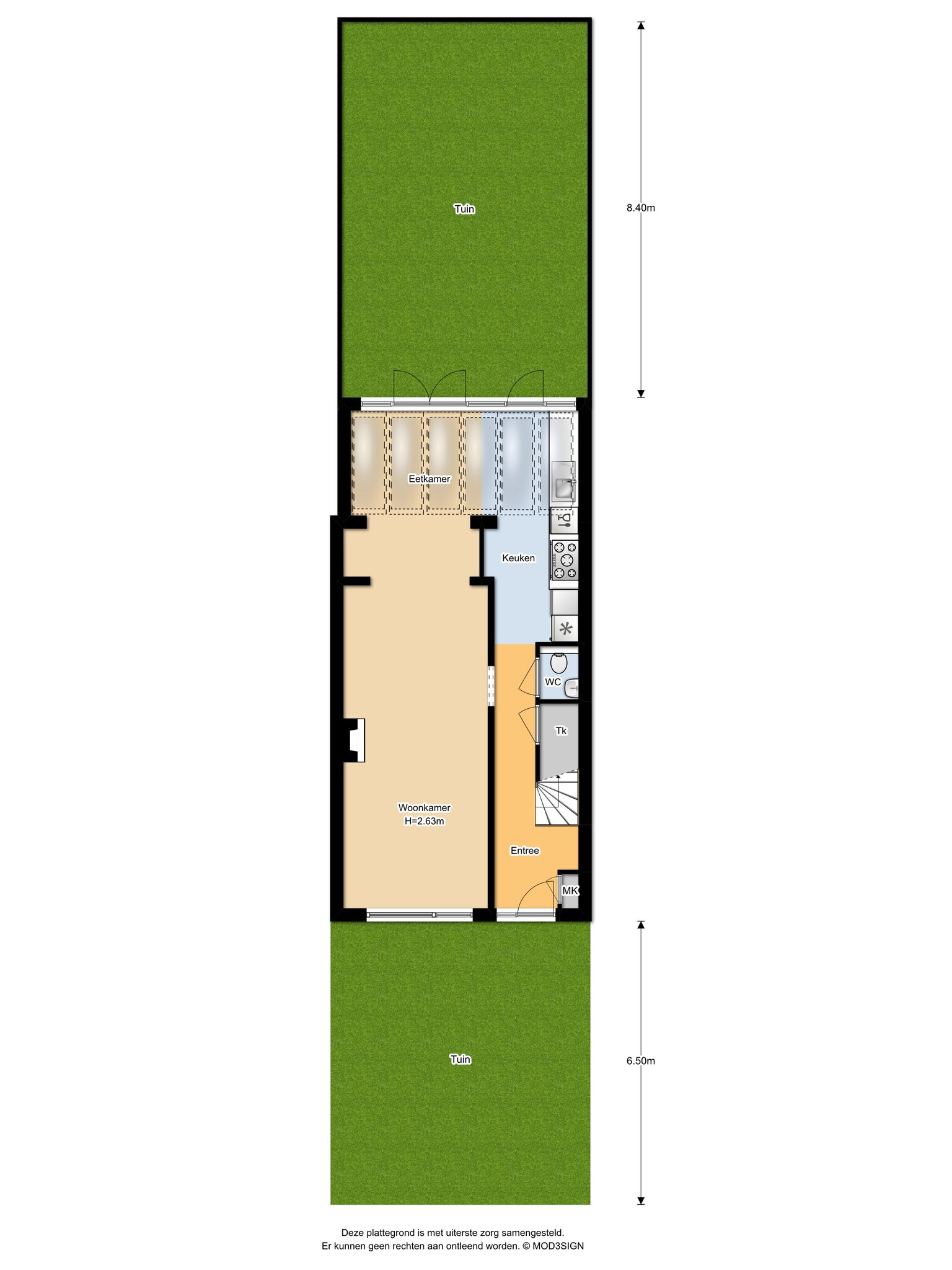 Overveen – Oranje Nassaulaan 61 – Plattegrond 5
