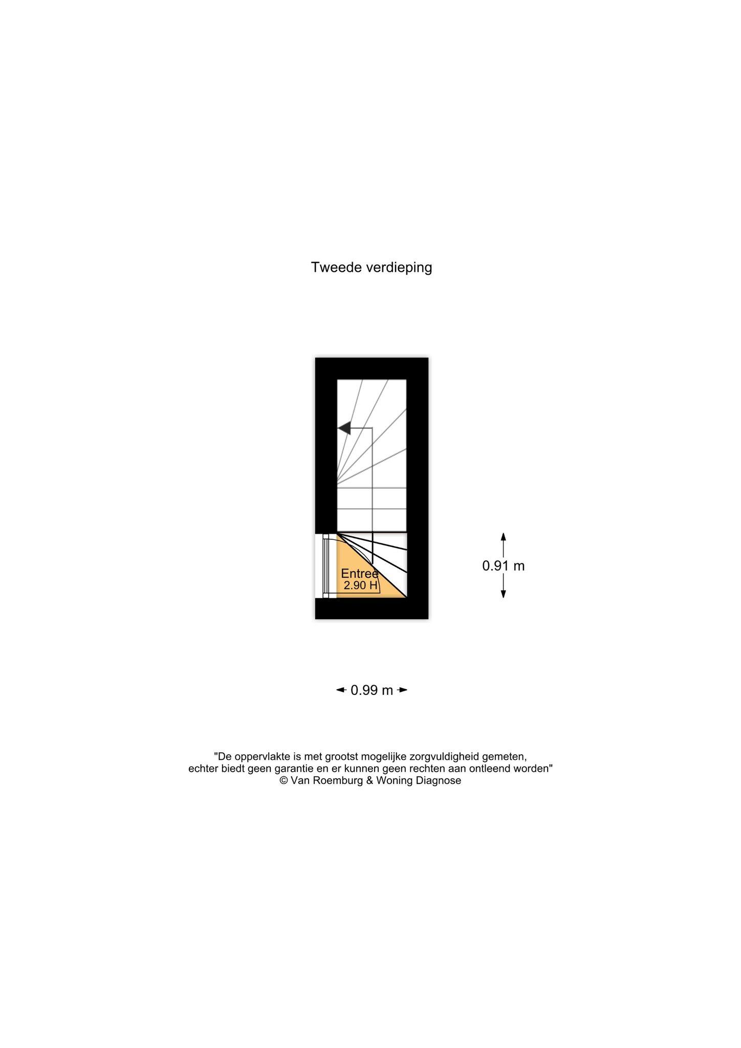 Amsterdam – Brederodestraat 71IV – Plattegrond
