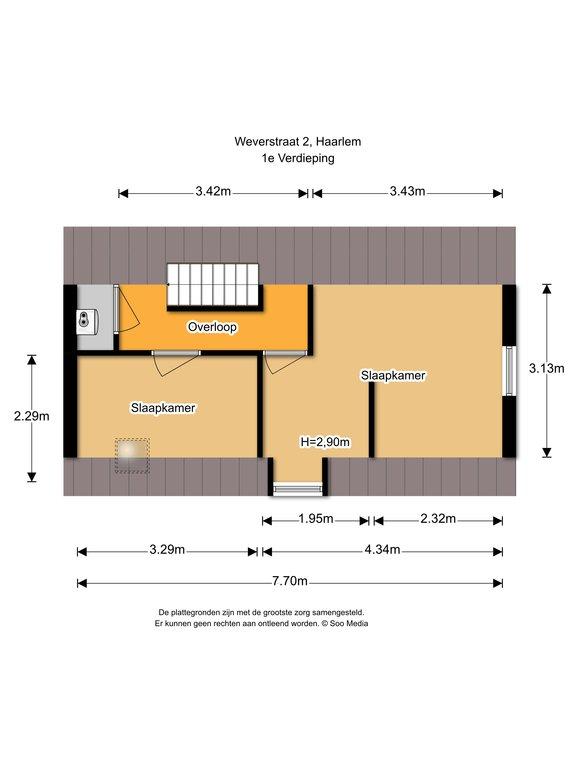 Haarlem – Weversstraat 2 – Plattegrond 4