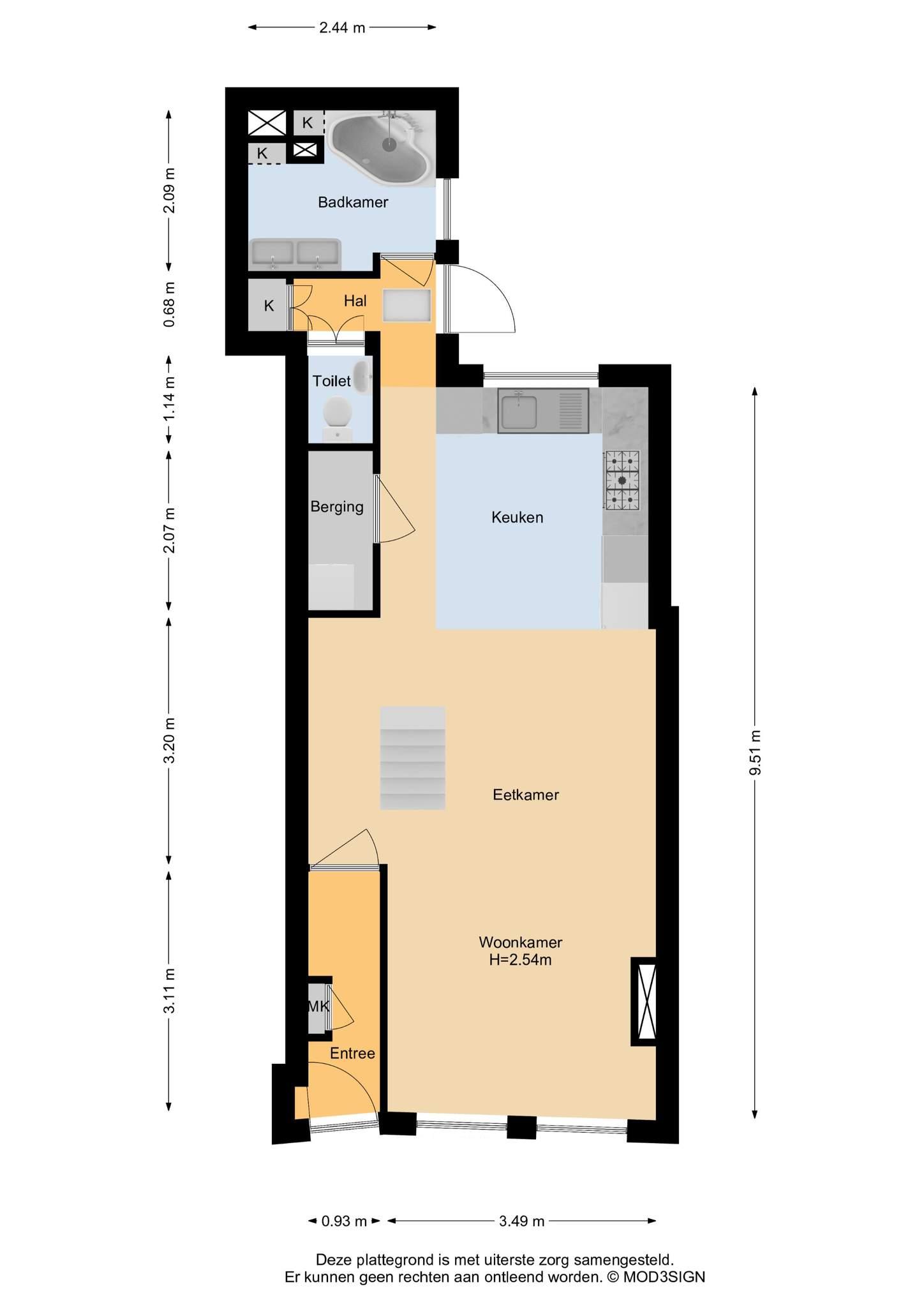 Haarlem – Lange Wijngaardstraat 9 – Plattegrond 3