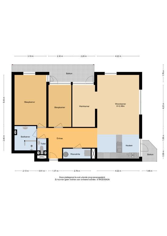 Haarlem – Robert Kochlaan 134 – Plattegrond 4