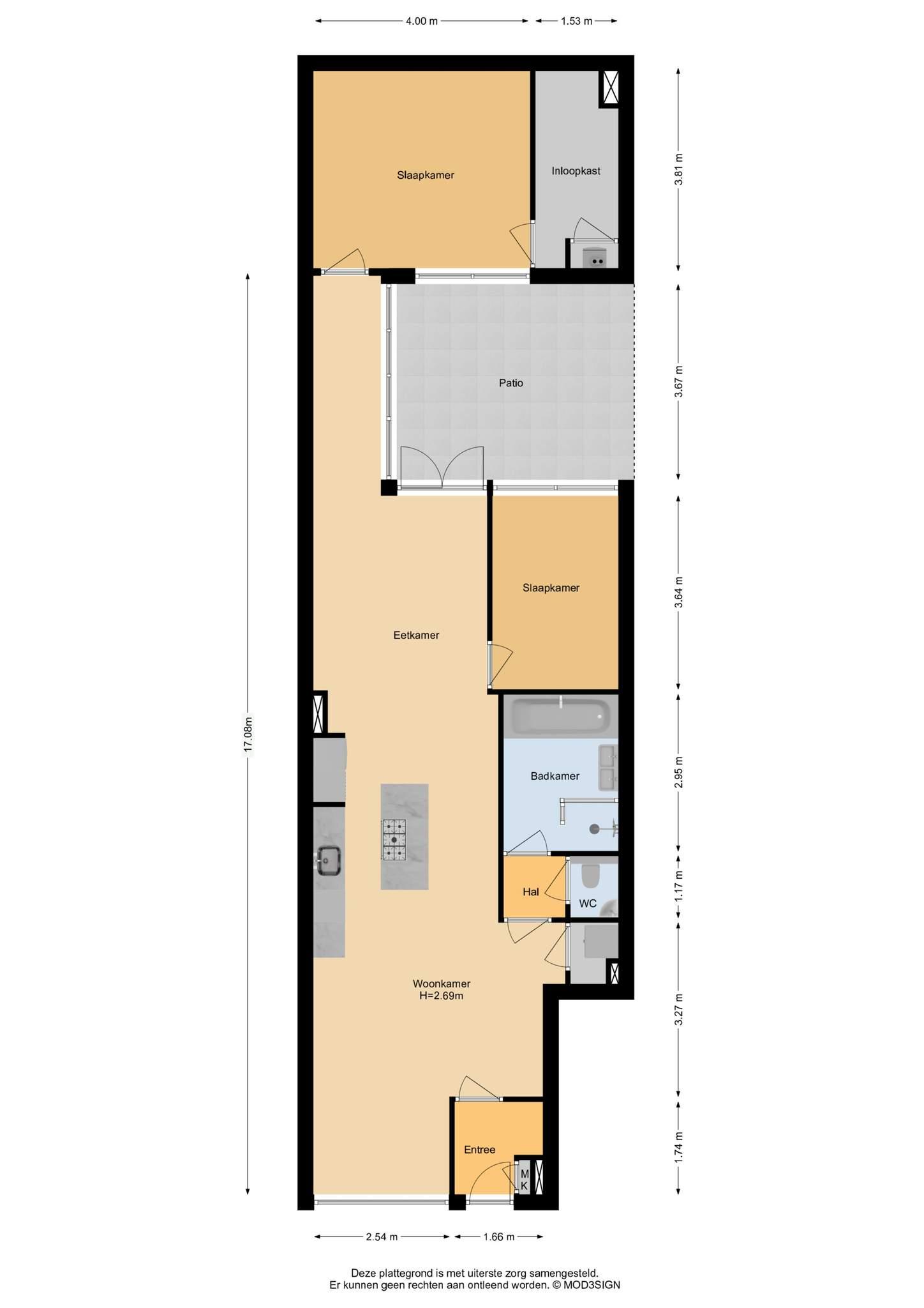 Haarlem – Lange Herenvest 86 – Plattegrond 2