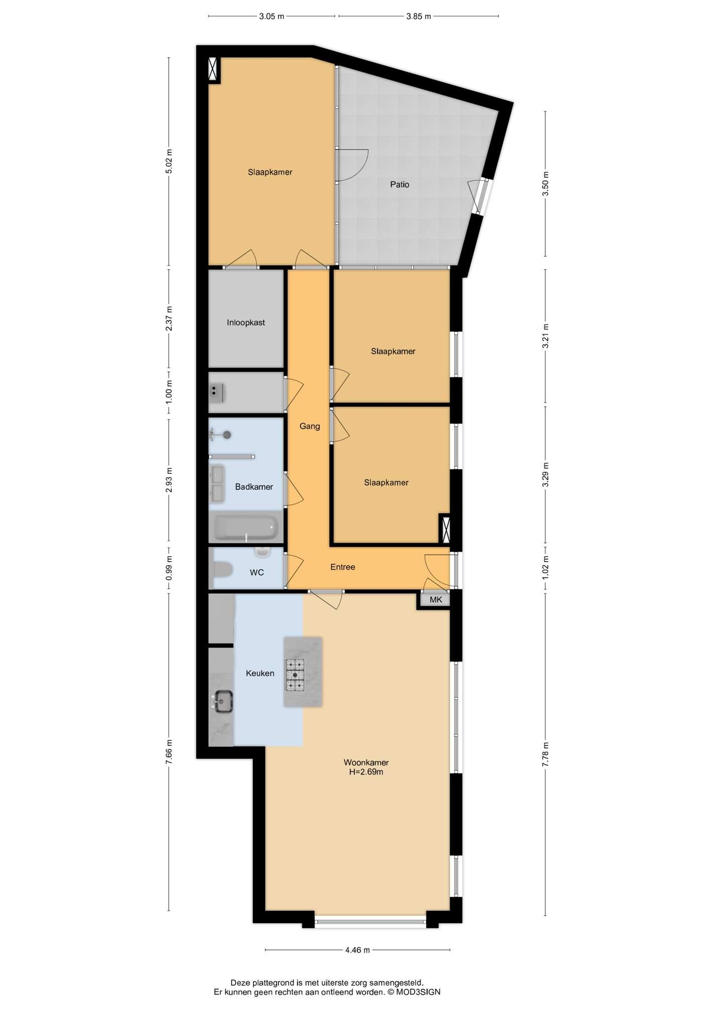 Haarlem – Janssen van Raaystraat 2A – Plattegrond 2