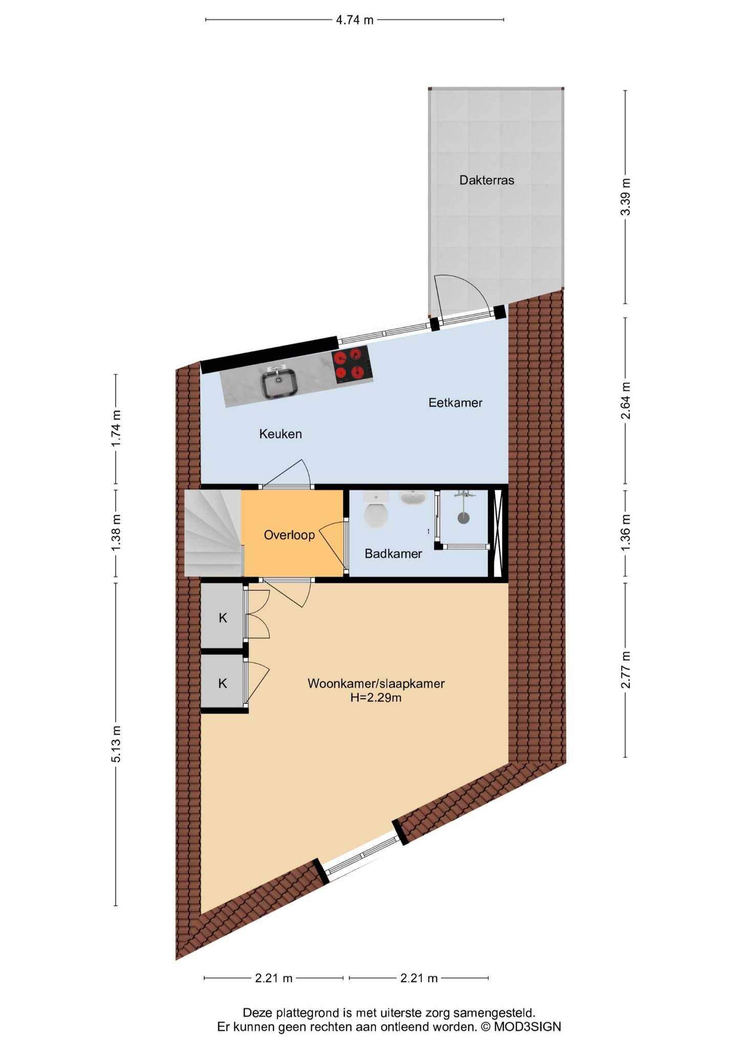 Haarlem – Burgwal 35rd – Plattegrond 3